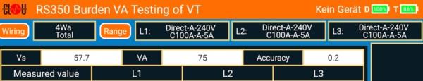 Rs350 Vt Burden Settings